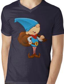 Elf Character - Holding A Sack Mens V-Neck T-Shirt