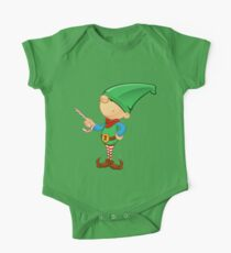 Elf Character - Pointing With Candy One Piece - Short Sleeve