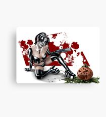 Sugar Skull Assassin Canvas Print
