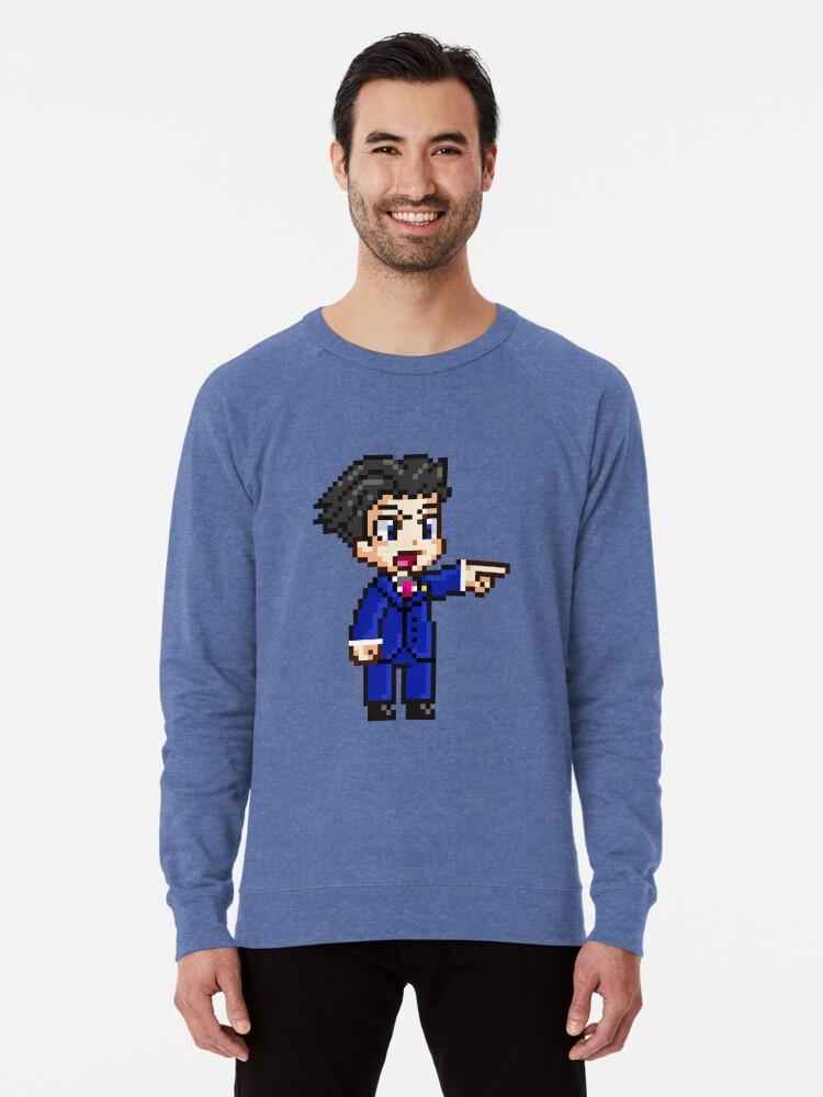 Phoenix Wright Pixel Sprite Lightweight Sweatshirt By Geekmythology Redbubble
