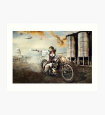 The Steampunk Warrior  Art Print