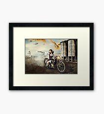 The Steampunk Warrior  Framed Print