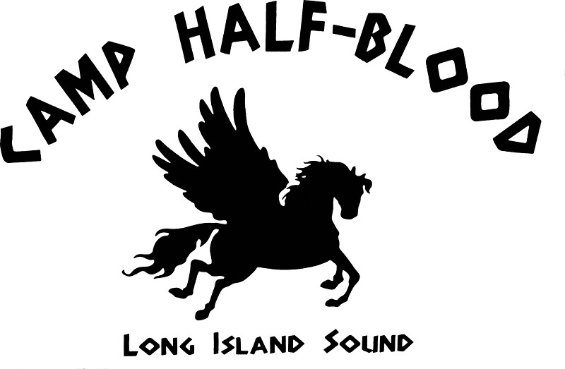 quotcamp half blood full camp logoquot stickers by andyhex