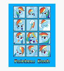 Faces of Rainbow Dash Photographic Print