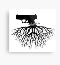 Person von Interesse - Shaw + Root = Schießen Metalldruck