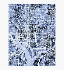Washington DC Street Map Photographic Print