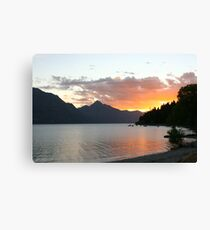 Queenstown Sunset - New Zealand Canvas Print