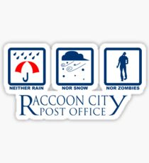 Racoon City Post Office Sticker