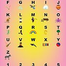 Alphabet and Memory Pegs Learning Chart • 2015 by Shining Light Creations