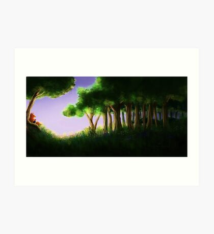 Tomte & Friends Midnight Sun Art Print