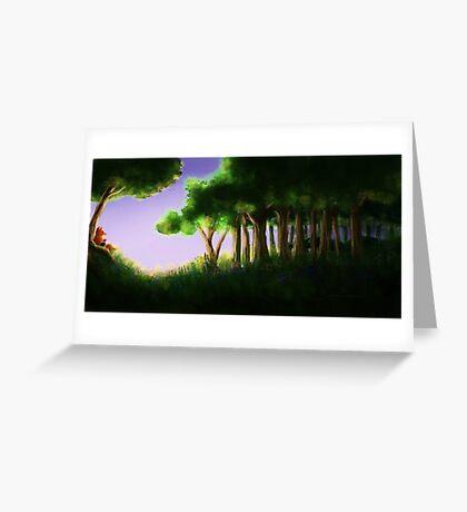 Tomte & Friends Midnight Sun Greeting Card