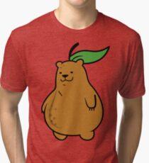 Pear Bear Tri-blend T-Shirt