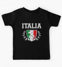 ITALIA - Classic Itlay Flag Crest (Vintage Distressed Design) Kids Tee