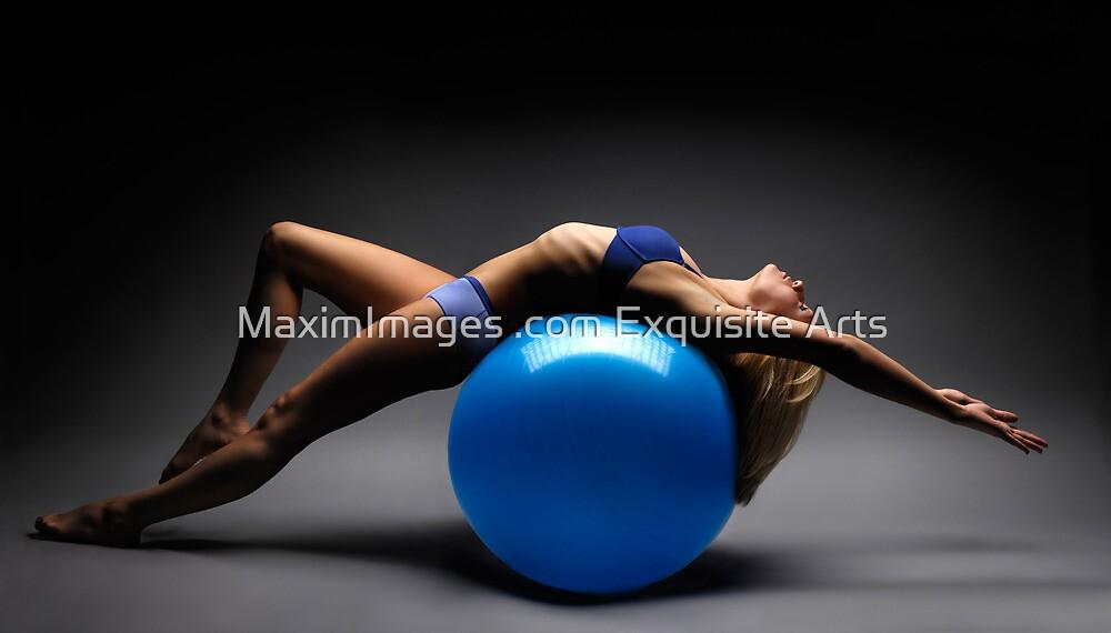 Woman on a Ball Artistic Fitness Concept art photo print by ArtNudePhotos