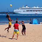 Beach Volley Ball by Ronald Rockman
