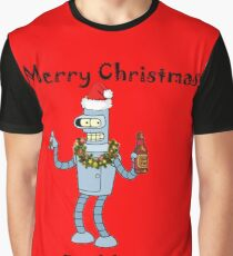Christmas Robot Graphic T-Shirt