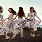 dance on the sand by Komang