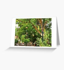floating apples Greeting Card