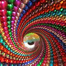 neon eyelid in chromatic tunnel  by Brooks  Hubbert
