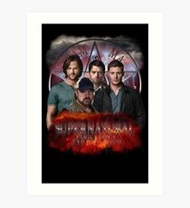 Supernatural Family dont end with blood 3  Art Print