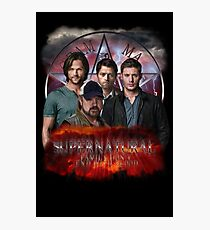 Supernatural Family dont end with blood 3  Photographic Print
