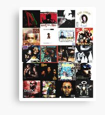 90s HIP HOP HISTORY Canvas Print