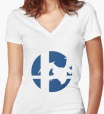 Meta Knight - Super Smash Bros. Women's Fitted V-Neck T-Shirt