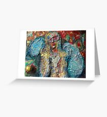 Angel with Blue Wings Greeting Card