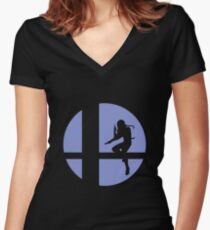 Sheik - Super Smash Bros. Women's Fitted V-Neck T-Shirt