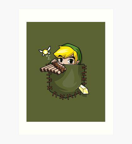 Pocket Link Art Print