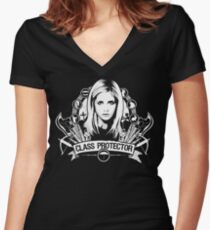 Class Protector  Women's Fitted V-Neck T-Shirt