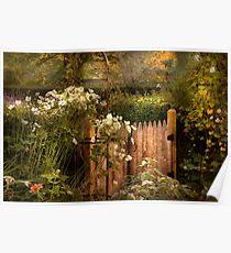 Country - Country autumn garden  Poster