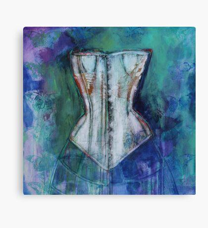 Corset And Butterflies Canvas Print