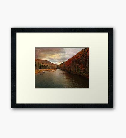 Roundout Reservoir in the Mountains Framed Print
