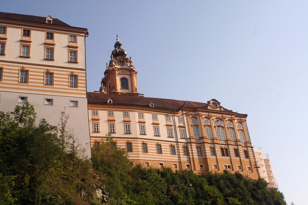 Stift Melk near the Danube, Wachau Austria by Ilan Cohen
