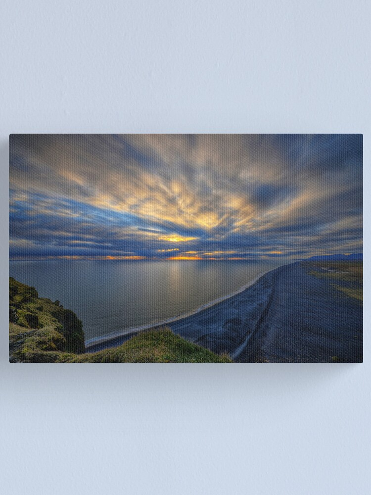 Alternate view of Sunset over Dyrholaey Canvas Print