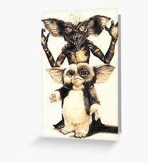 Gizmo and Spike from Gremlins Greeting Card