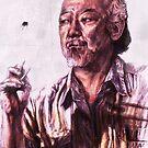 Mr. Miyagi from Karate Kid by AaronBir