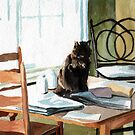 Cat on a Table by AaronBir