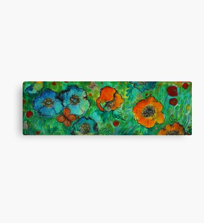 Blue And Tangerine Canvas Print