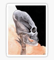 Ancient Elongated Skull Watercolor Sticker