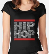 Hip Hop in Black Women's Fitted Scoop T-Shirt