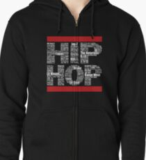 Hip Hop in Black Zipped Hoodie