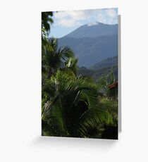 tropical landscape - paisaje tropical Greeting Card