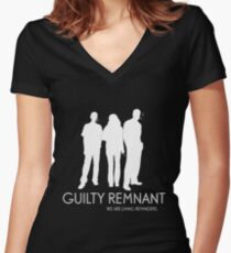 The Leftovers - Guilty Remnant Women's Fitted V-Neck T-Shirt