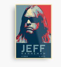 Jeff Hanneman R.I.P. Poster Metal Print