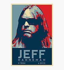 Jeff Hanneman R.I.P. Poster Photographic Print