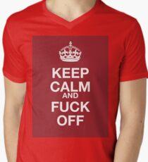 keep calm and fuck off Mens V-Neck T-Shirt