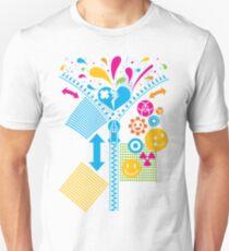 Zipper_Heart Unisex T-Shirt