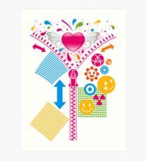 Zipper_Heart Art Print